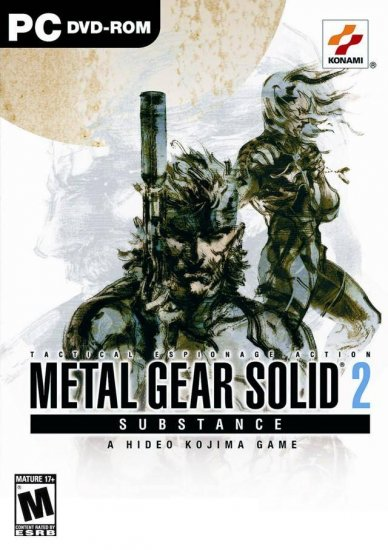 METAL GEAR SOLID 2 SUBSTANCE RARE PC VERSION