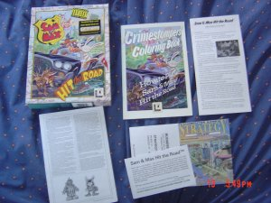 Sam and Max Hit the Road Original Big Box release with coloring in book+DVD VERSION