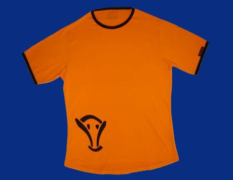STOCK#11 [XL] ORANGE VOODOO T-SHIRT SHORT SLEEVE