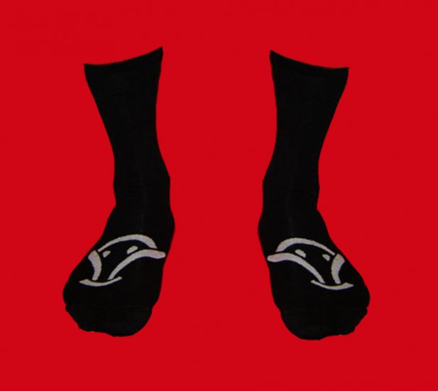 STOCK#20 [L] 4 PACK VOODOO SOCKS - BLACK, REGULAR