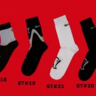 STOCK#18,19,20,21 [L] VARIETY 4 PACK  VOODOO SOCKS - KHAKI/WHITE, SHORT, REGULAR