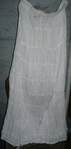 Sacred Thread Long Tan Skirt Elast Waist 100% Cotton-XL