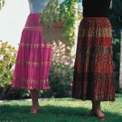 Sacred Threads Rayon Skirt Mult-Colored