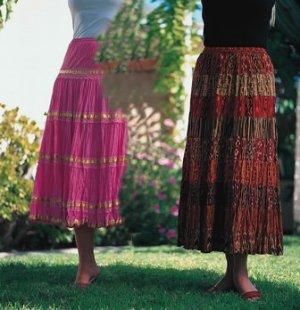 Sacred Threads Rayon Skirt Mult-Colored