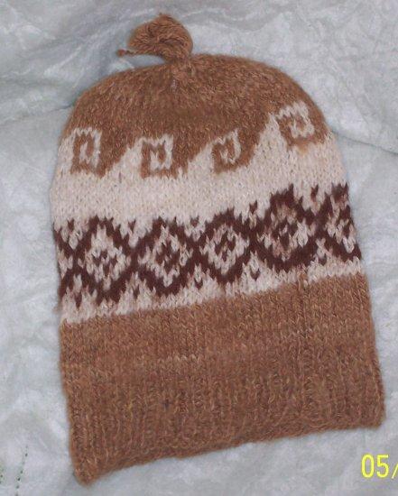 "100% Alpaca Hand-knitted Cap ""Geometric"""