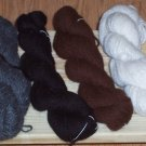 "Gray Alpaca handspin yarn from our own gray alpaca ""Cyclone"""