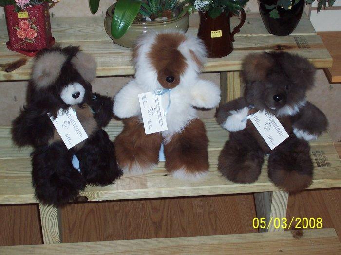 Alpaca Fur Bear 12 inchs