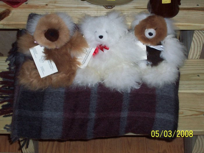 Alpaca Fur Bear small 8-10 inchs