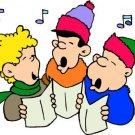 Three Christmas Carolers Return Address Labels