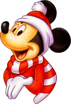 Mickey Mouse Christmas Return Address Labels