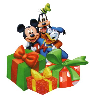 Mickey Pluto and Donald Christmas Return Address Labels