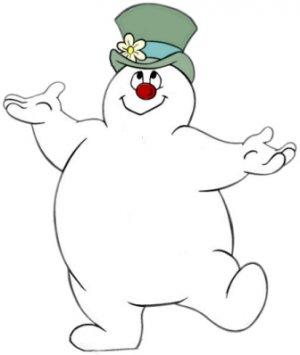 Frosty the Snowman Christmas Return Address Labels