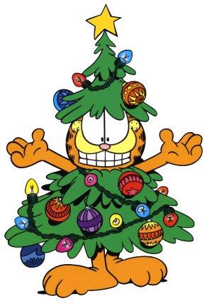 Garfield Christmas Return Address Labels