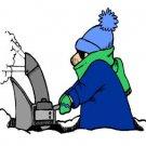 Snowblowing Winter Return Address Labels
