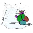 Snowy Car Winter Return Address Labels