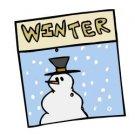 Winter Sign Return Address Labels