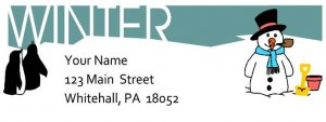 Winter Title Return Address Labels