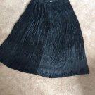Bohemian Marshall Rousso Rayon Broomstick Southwestern Faux Velvet Maxi Skirt LG