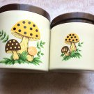 Vintage Sears Collectible 1979 Japan Mushroom Kitchenware Mid Century Canisters