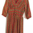 Vintage Boho Paisley I.Magnin  & Co Dress