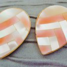Vintage 80's Irridescent Mother of Pearl Shell Tear Drop Earrings