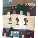 Vintage Tasseled Boho Handwoven Southwest Village Tapestry Wall Hanging