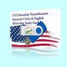 2017 US Citizenship Civics & English Lessons Naturalization test Citizen USB