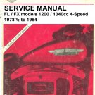 1978 1/2 to 1984 Harley-Davidson service manual FL/FX 1200/1340cc 4-Speed PDF