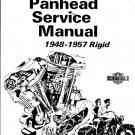 1948-1957 Panhead Harley-Davidson Rigid Service Manual fully Illustrated 224 PDF