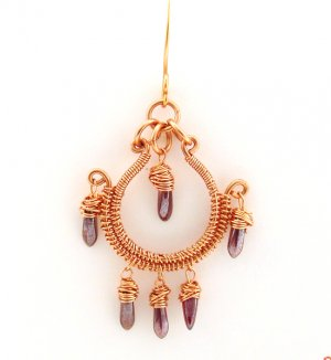 Wire Jewelry Tutorial Project - Downloadable Instructions - Jasmine Earrings