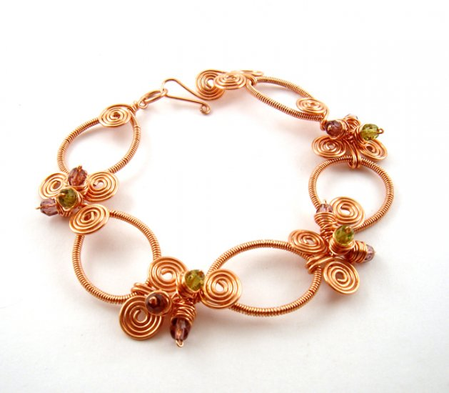Wire Jewelry Tutorial Project - Downloadable Instructions - Nicole Bracelet