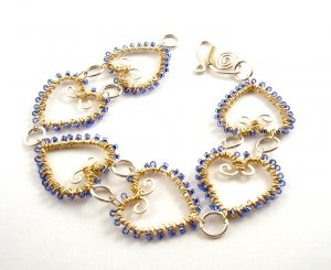 Wire Jewelry Tutorial Project - Downloadable Instructions - Heather Bracelet