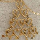 Tree of Hearts Pendant Necklace 29 hearts Christmas Style