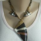 Horn Brass Necklace 1950s Mid-Century Vintage Jewelry