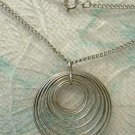 3-D Coiled Circles Pendant Necklace with 18 inch chain