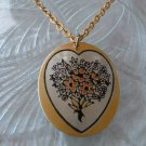 Reed and Barton Damascene Floral Bouquet Pendant Necklace