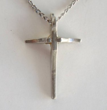 Sterling Silver Tiny Cross and Chain Religious Jewelry
