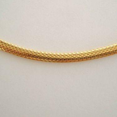 "Goldtone Mesh Chain Necklace 18"" Long"