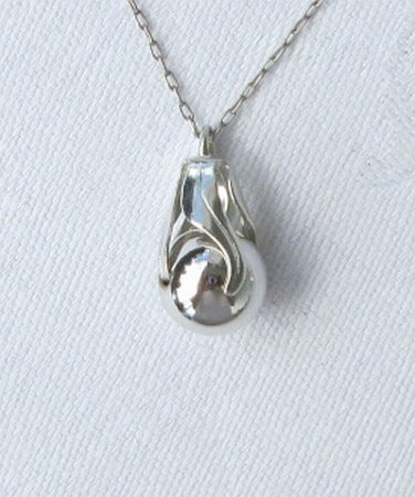 Delicate Pear Shaped Choker Pendant Necklace Earring Set Vintage Jewelry
