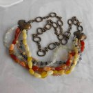Chico's Ultra Long Heavy Statement Necklace or Belt Gemstones Retro Jewelry