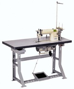 SINGLE NEEDLE INDUSTRIAL SEWING MACHINE with TABLE
