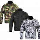 Gents Camouflage CE Armoured Waterproof Motorcycle Motorbike Cordura Jacket