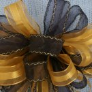 PURPLE & GOLD SHEER – LARGE CHRISTMAS WREATH, SWAG, GARLAND BOW