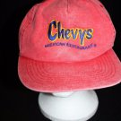 Chevys Mexican Restaurant San Sun snapback men/women employee hat distressed red