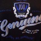 VINTAGE IOU Tradition CREW NECK Genuine 90'S RAP HIP HOP Black Sweatshirt sz XL
