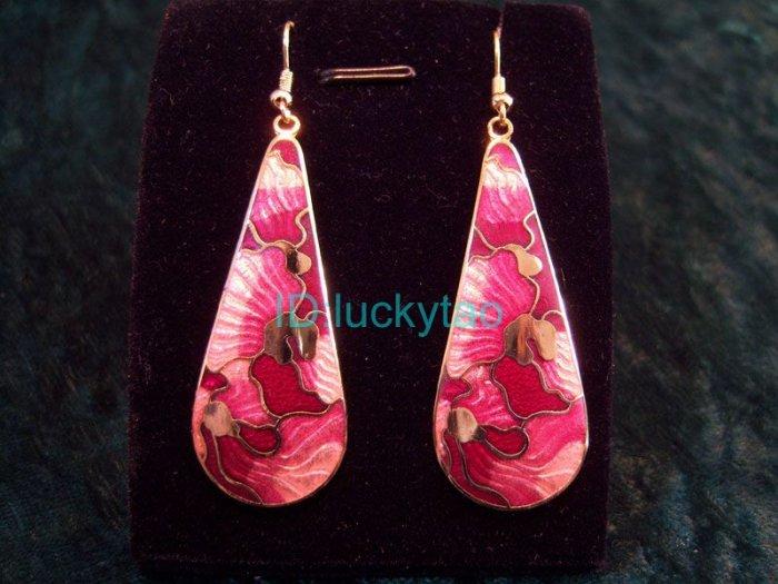 stunning folk beatiful pink chandelier  drop earrings