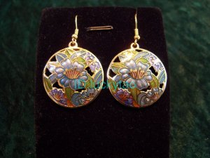stunning folk beautiful rare colorful round earrings