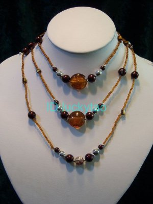 noblest stunning  2 rows beads necklace