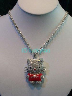 stunning shining beautiful cat necklace