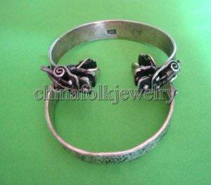 china character Miao silver bracelet